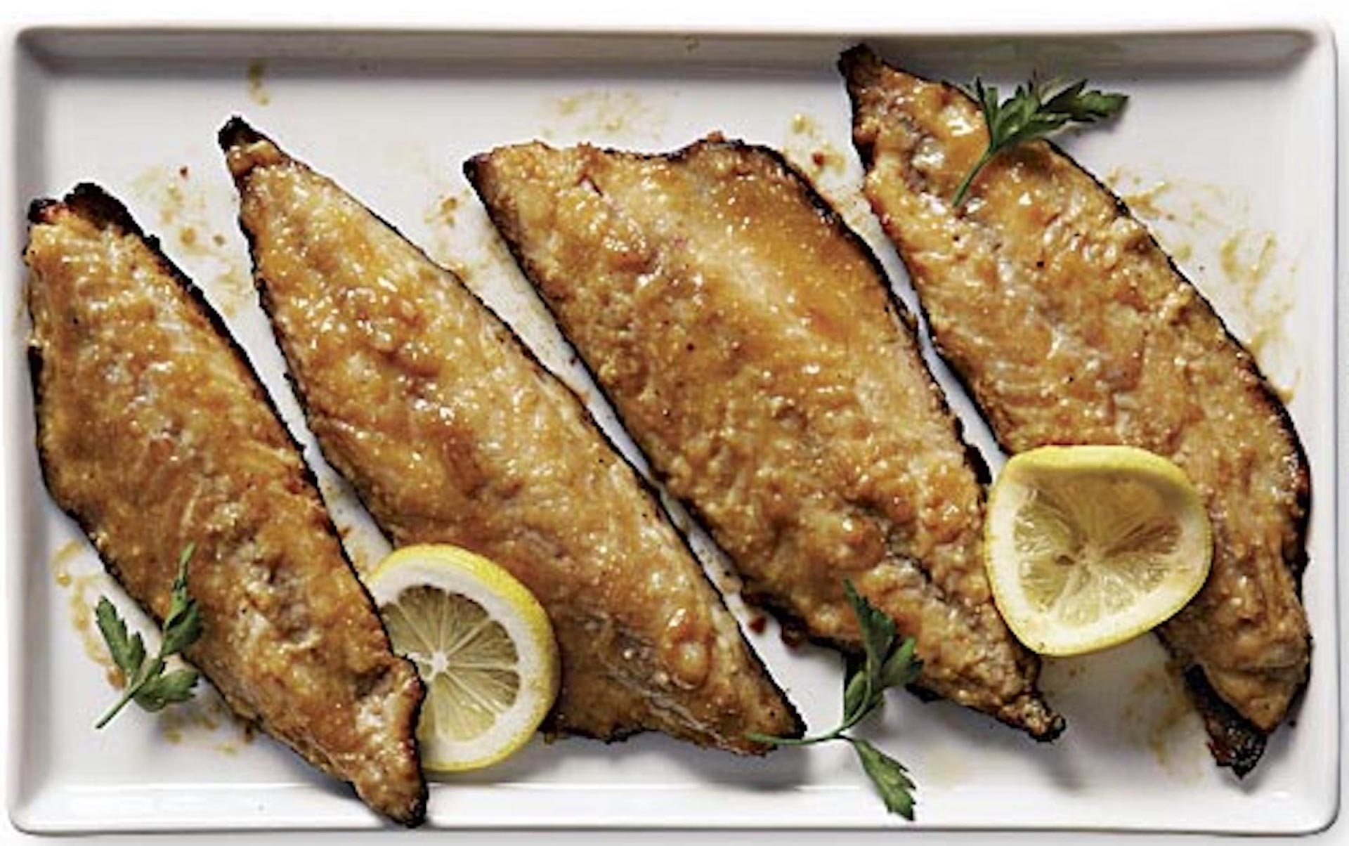 Pan-fried mackerel fillets