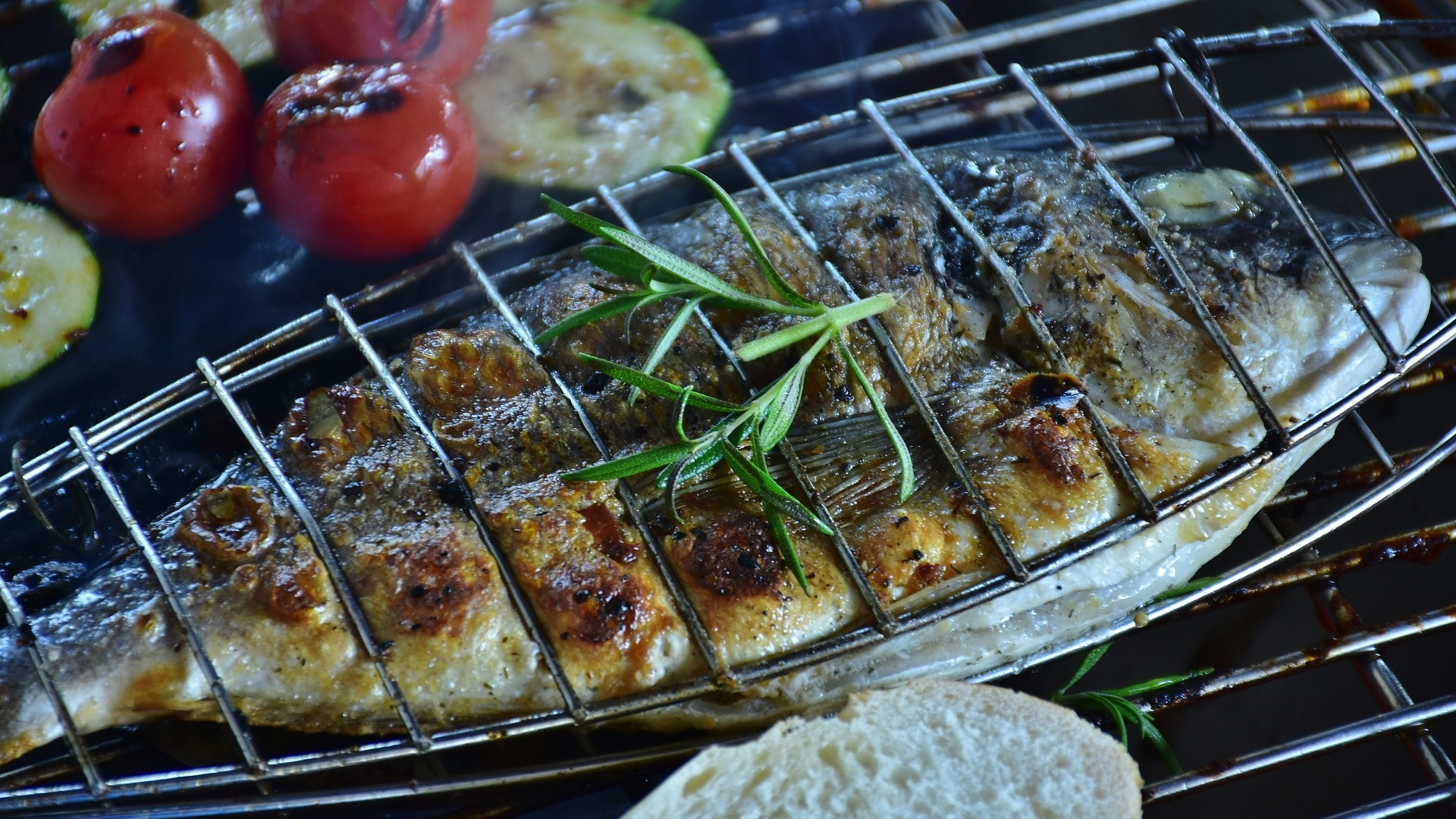 Grilled red bream