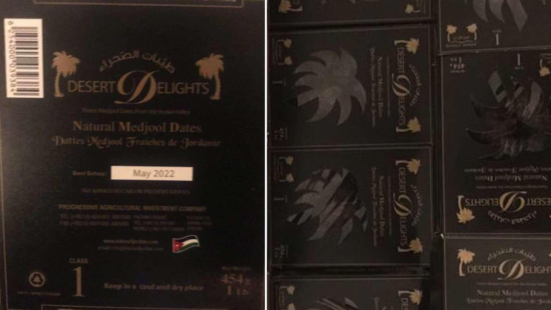 Desert Delights Dates in stock £4.25 per box (0.454g)